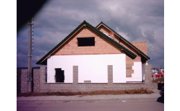 Zateplení fasády rodinného domu - stavební práce Habiňák z Brněnska