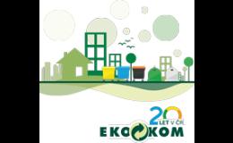 EKO-KOM a.s. Praha zajišťuje systém třídění, recyklace a využití odpadu