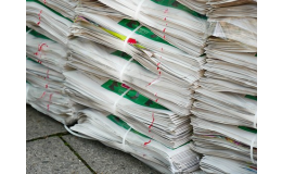 Sběrový papír do modrého kontejneru či sběrných dvorů