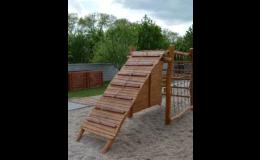 Dřevěné herní prvky na zahrady MŠ, dětská hřiště, relaxační zóny