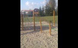 Cvičební prvky pro děti, hrazdy, lanové sítě - Dřevoslav s.r.o. Slavonice