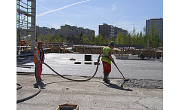 Cementová litá pěna Poriment na spádové vrstvy střech