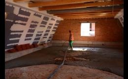 Cementová litá pěna Poriment na výplně hluchých míst stavby