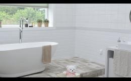 Přestavba koupelny, rozvody vody, elektřiny a topení