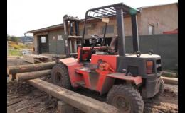 Prodej štípaného palivového dřeva, Pila LUBNÁ