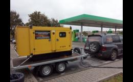 Pronájem dieselagregátů o výkonu 5–2000kVA