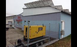 Zapůjčení elektrocentrály pro zajištění provozu firmy