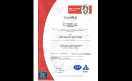 Certifikát ČSN EN ISO - výroba evolutních pružin
