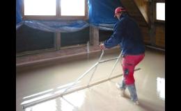 Anhydritové lité podlahy - ZEDNICTVÍ JENEŠ Kuřim