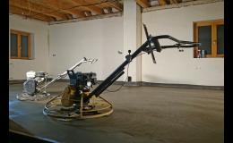 Strojně hlazené podlahy do průmyslových hal