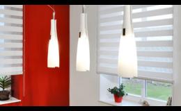 Látkové rolety Twintex den-noc do moderního interiéru