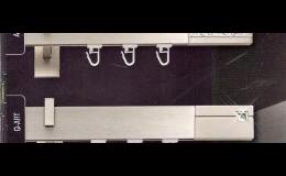 Minimalistické záclonové tyče SQUARE LINE