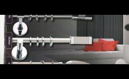 Záclonové tyče čistých forem s efektním kontrastem