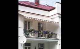 Balkonové markýzy v mnoha barevných provedeních