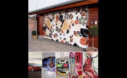 Sekční garážová vrata s možností potisku