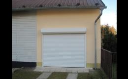 Rolovací garážová vrata v různých barvách