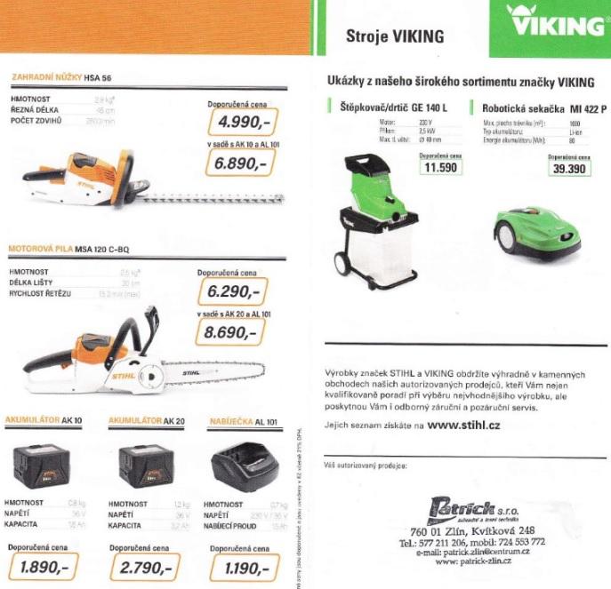 Zahradní technika Viking i STIHL