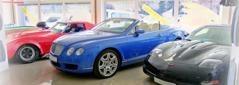 Autopůjčovna disponuje dodávkami i luxusními vozy