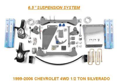 sada dílů pro zvýšení podvozku vozů Chevrolet