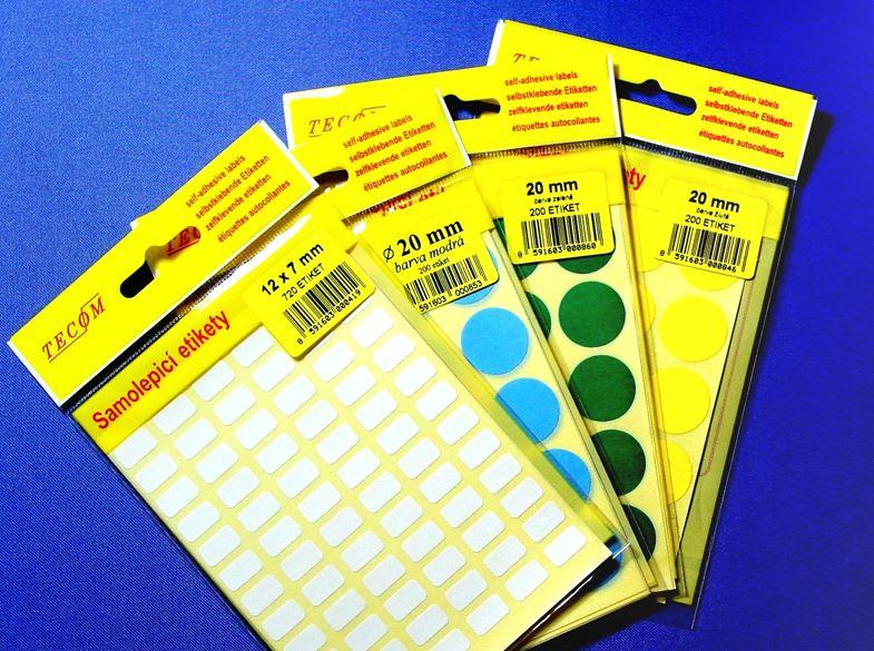 Výroba a prodej etiket, samolepící etikety