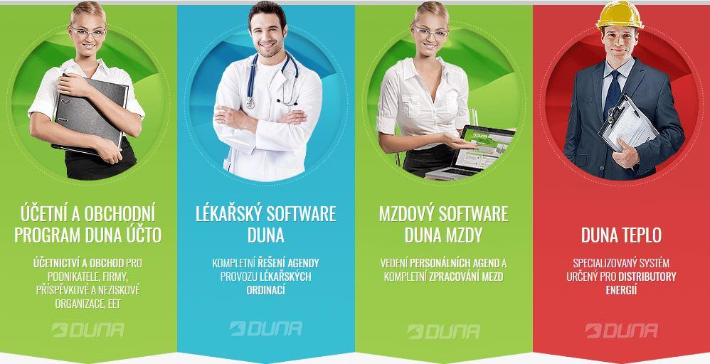 Software Duna pro vedení mezd, účetnictví, lékařských výkonů