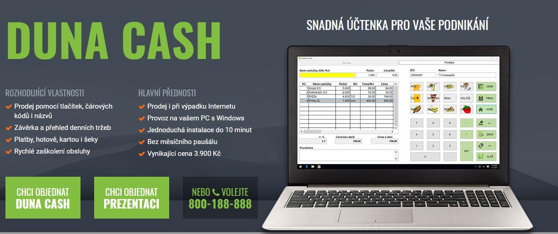 Prodejní software DUNA CASH pro EET