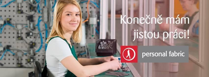 Pracovní pozice, Personal fabric - agentura práce, a.s.