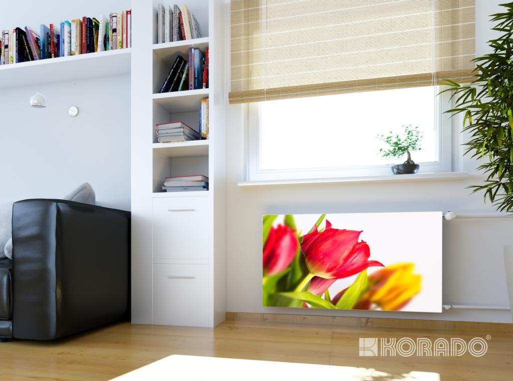 RADIK LINE KLASIK -  tulipán, designová čelní deska deskového radiátoru