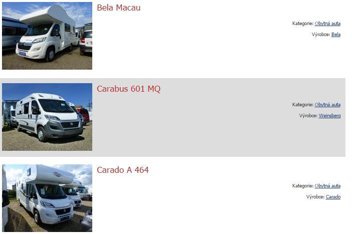 Půjčovna obytných automobilů a karavanů, Hykro s.r.o.