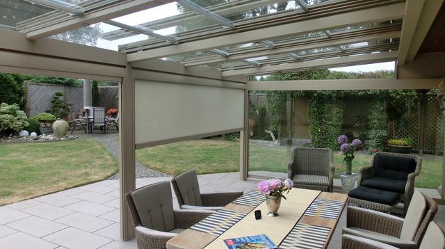 Terasy s flexibilní prosklenou střechou, VITELLO-FLEX® a VITELLO-FLEX PLUS®, WIDOMA s.r.o.