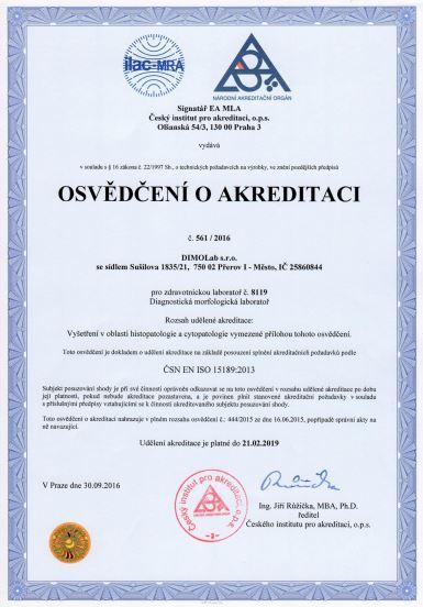 DIMOLab s.r.o.: akreditovaná laboratoř, Přerov