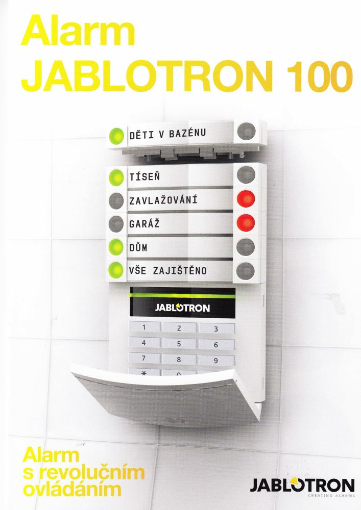 Novodobý ochranný a bezpečnostní systém - Alarm Jablotron se snadným ovládáním