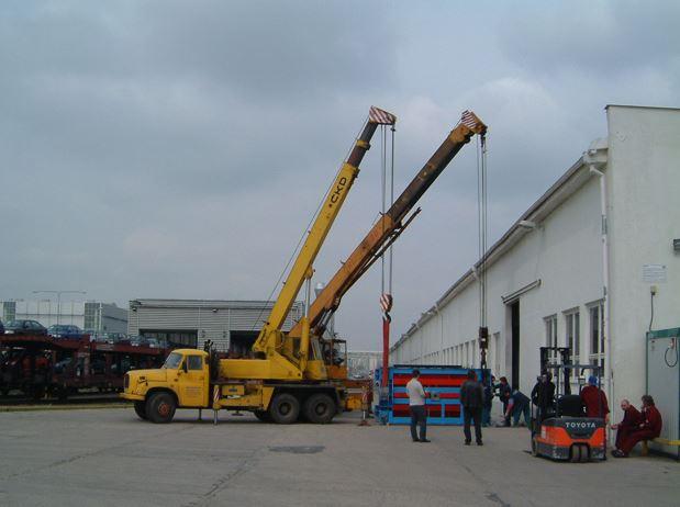 Speciální stěhování a stěhování výrobních linek a provozu
