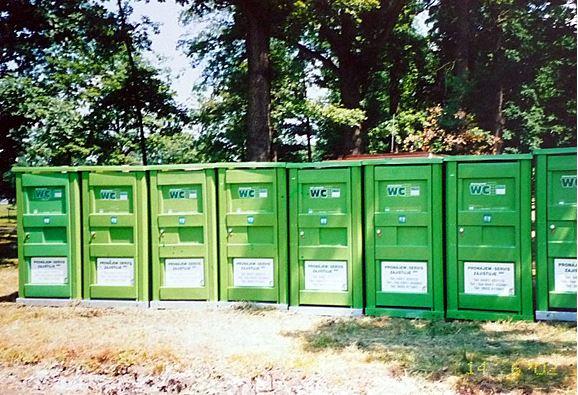 Pronájem mobilních toalet na festivalech nebo sportovních akcích