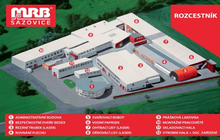 Firma MRB Sazovice se zaměřuje na zpracování plechů a výrobu dílů, konstrukcí a sestav z plechového a profilového materiálu