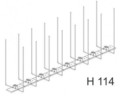 Hrotový systém H 114 - ochrana proti ptákům, KLEMPOS - STŘECHY, s.r.o.