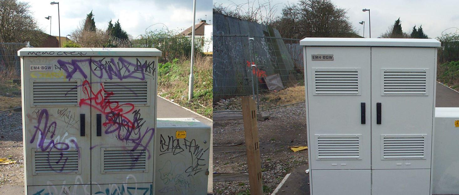 Odstraňování graffiti, SK Fasády s.r.o., Ostrava