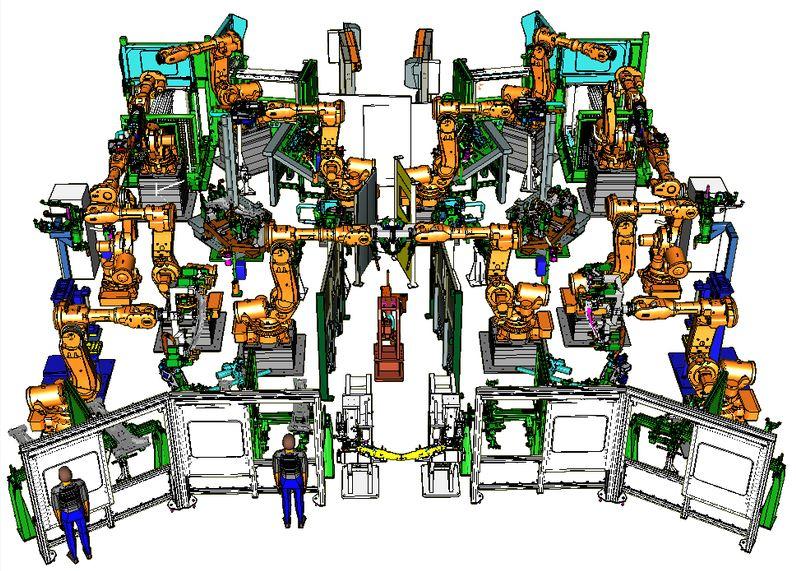 Off-line simulace robotických pracovišť, Blumenbecker Prag s.r.o.