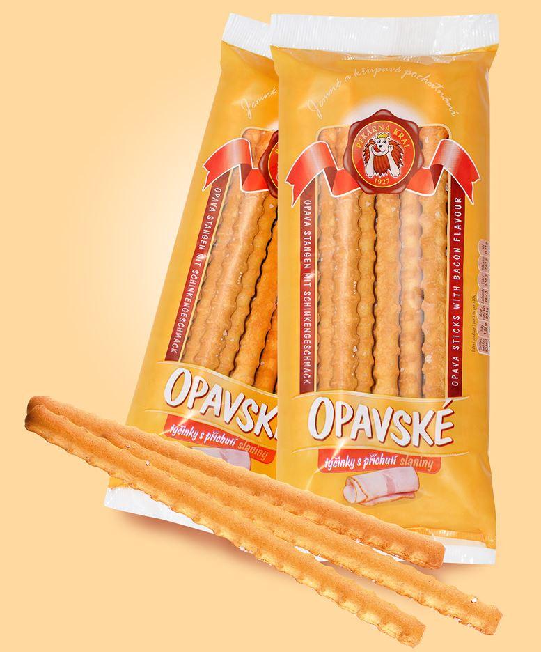 Opavské tyčinky s příchutí slaniny, PEKÁRNA KRÁL s.r.o.