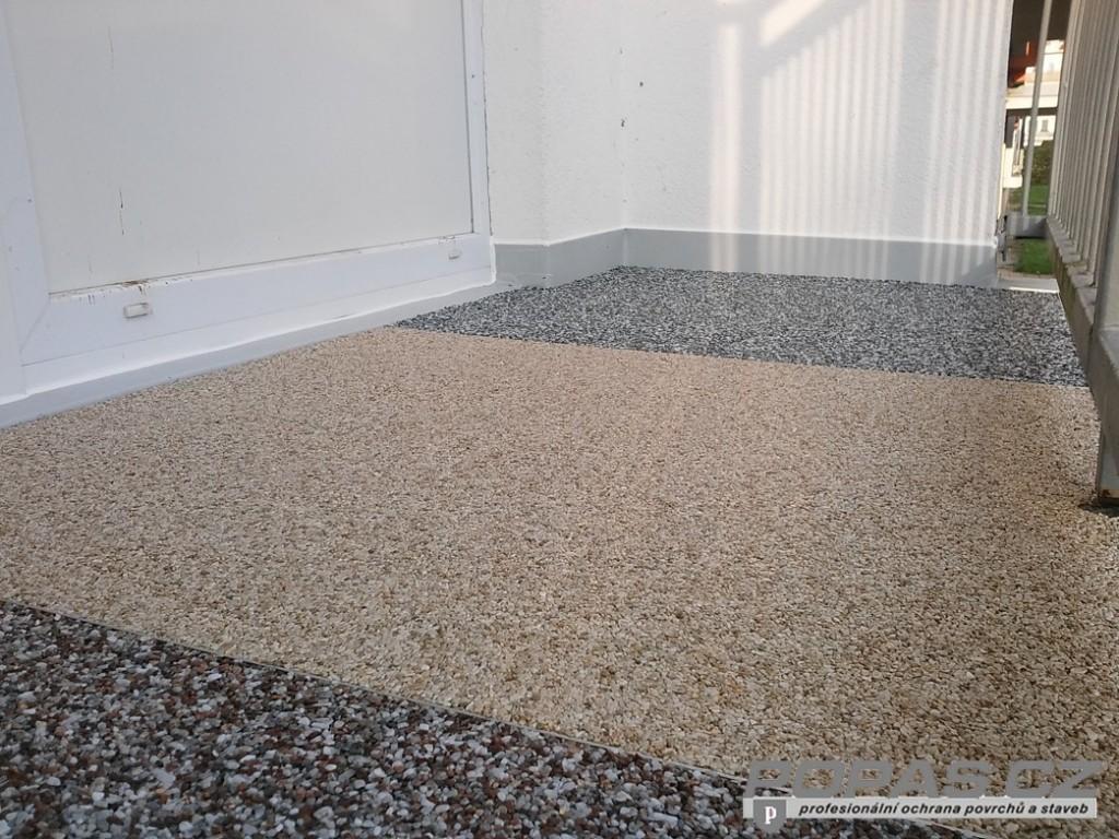 Hydroizolace balkonu, kamenný koberec, POPAS CZ, s.r.o.