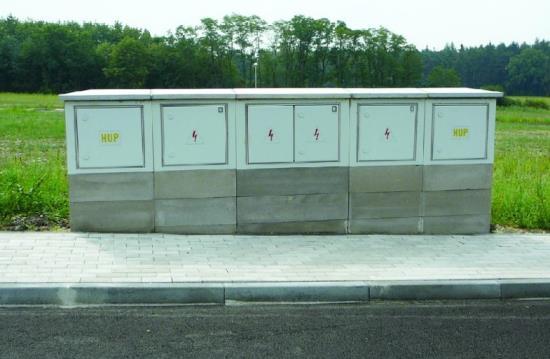 Betonové stavebnice pro plynové a elektrické přípojky