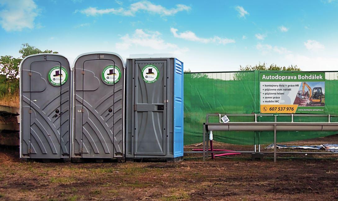 Pronájem mobilního WC na stavbu, sportovní i kulturní akce