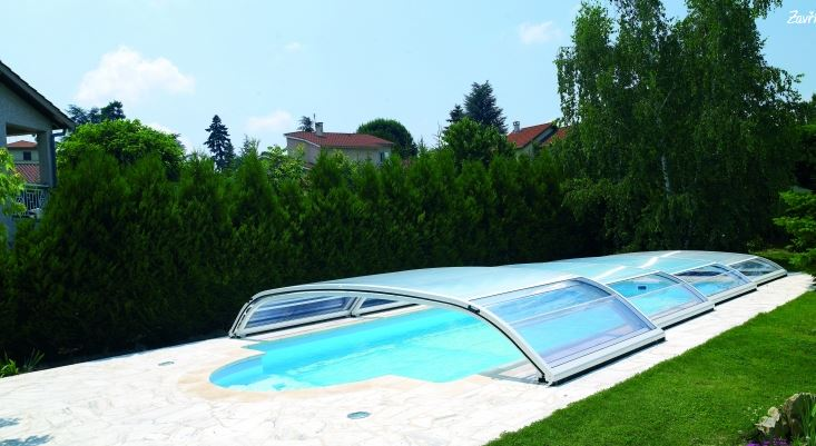 Zastřešení bazénů Desjoyaux bez kolejnic-vyšší komfort a bezpečnost