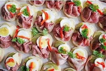 Výrobky studené kuchyně v Prostějově - chlebíčky, aspiky, obložené mísy
