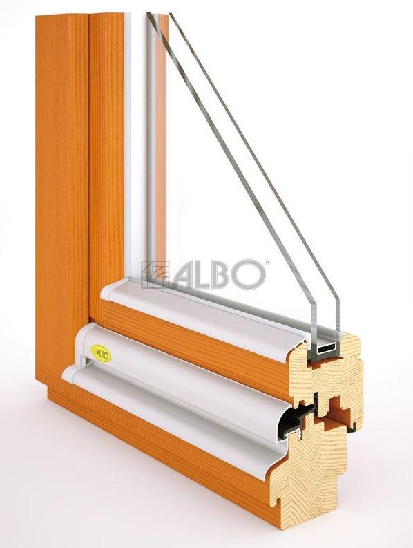 DŘEVĚNÁ EUROOKNA, dřevohliníková okna ALBO