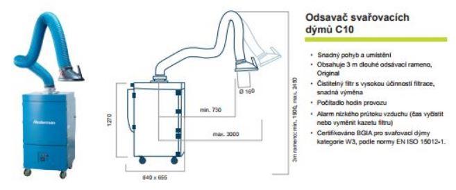 Odsavač svařovacích dýmů C10, KVP servis s.r.o.