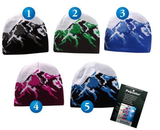 Výroba pletených reklamních čepic a šál