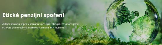 Etické spoření od ČS penzijní společnosti