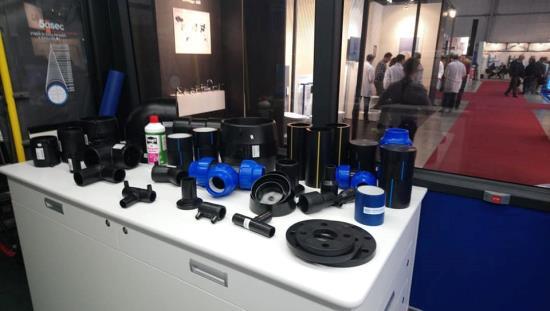 Potrubí z polyethylenu od českého výrobce Luna Plast a.s. na výstavách