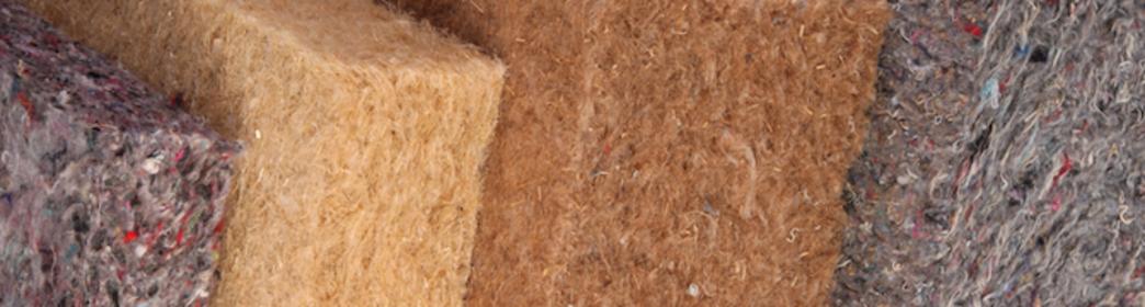 Aislamiento de fibras naturales - cáñamo, algodón, yute, lino, lana